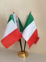 ITALY - TABLE FLAG SET - 4 FLAGS